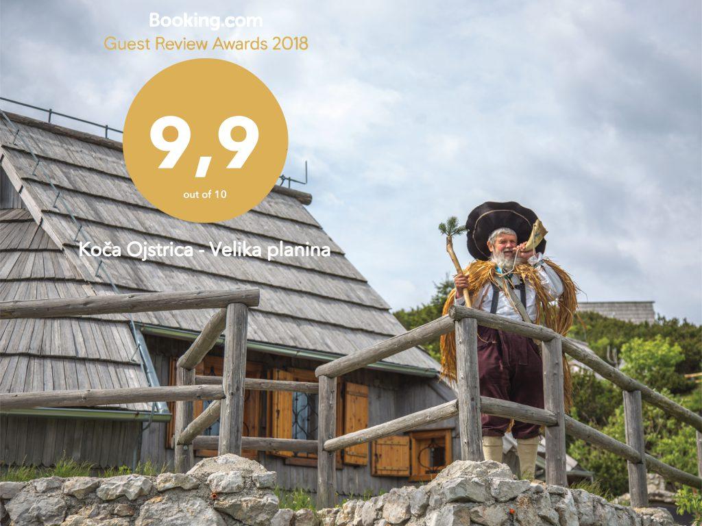 Koča Ojstrica prejela drugo leto zapored Booking Guest Award