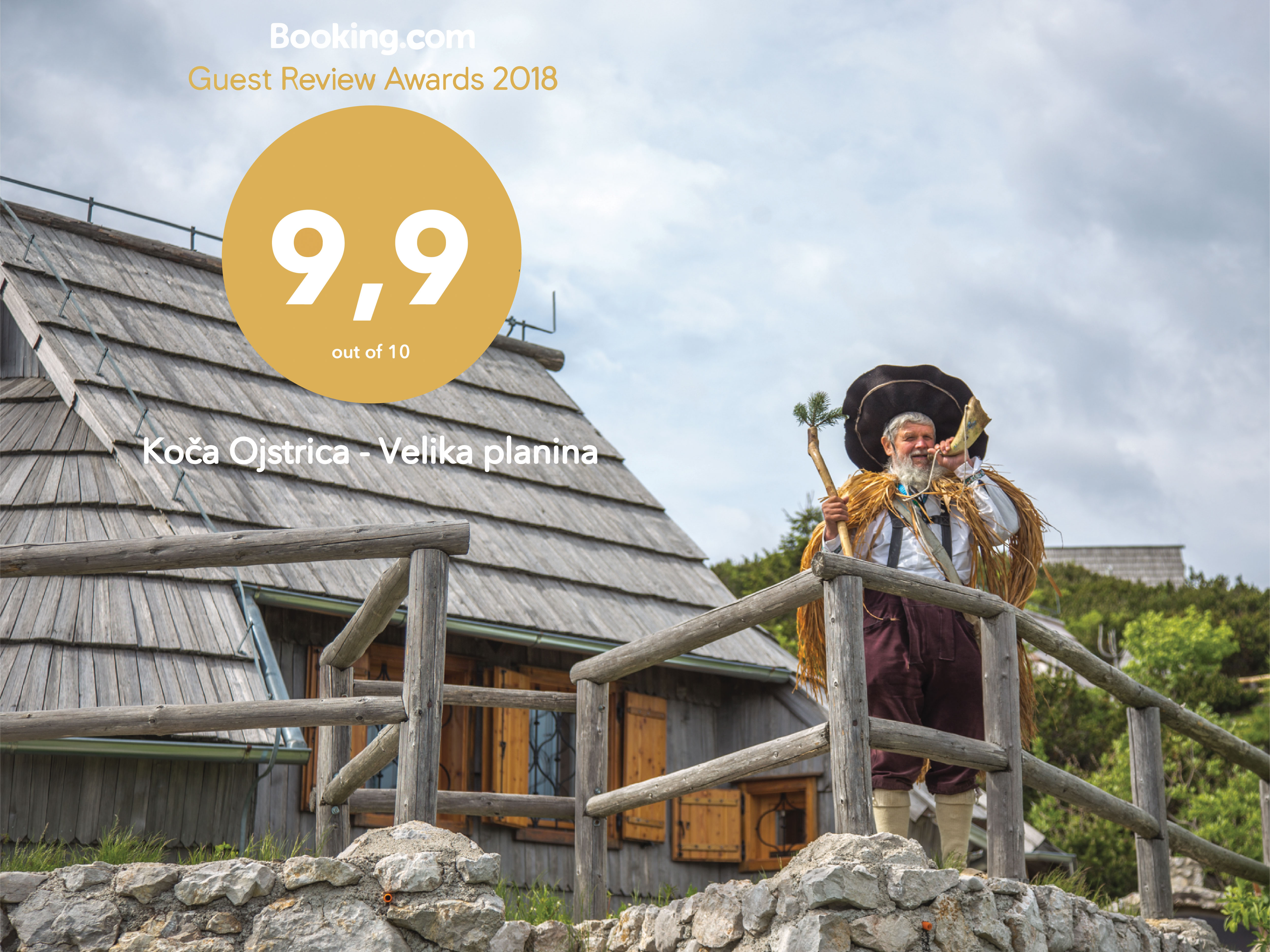 Koča Ojstrica prejela drugo leto zapored Booking Guest Award